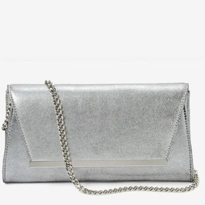 WHBM- Shimmer suede clutch